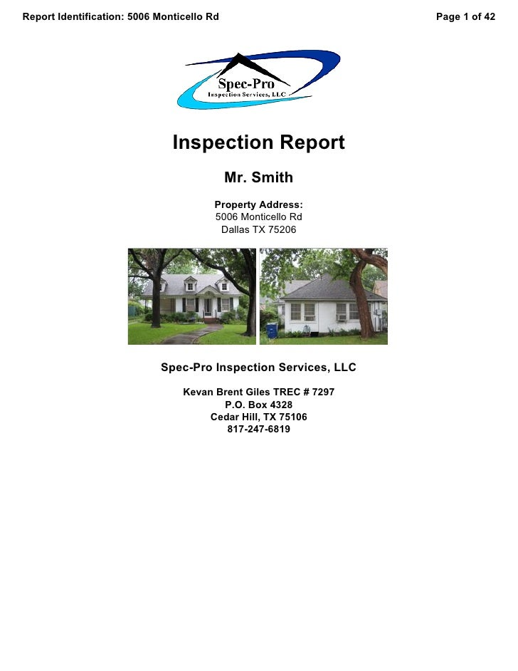 Report Identification: 5006 Monticello Rd                        Page 1 of 42                                    Inspectio...