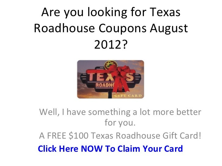 Texas roadhouse coupons 2019