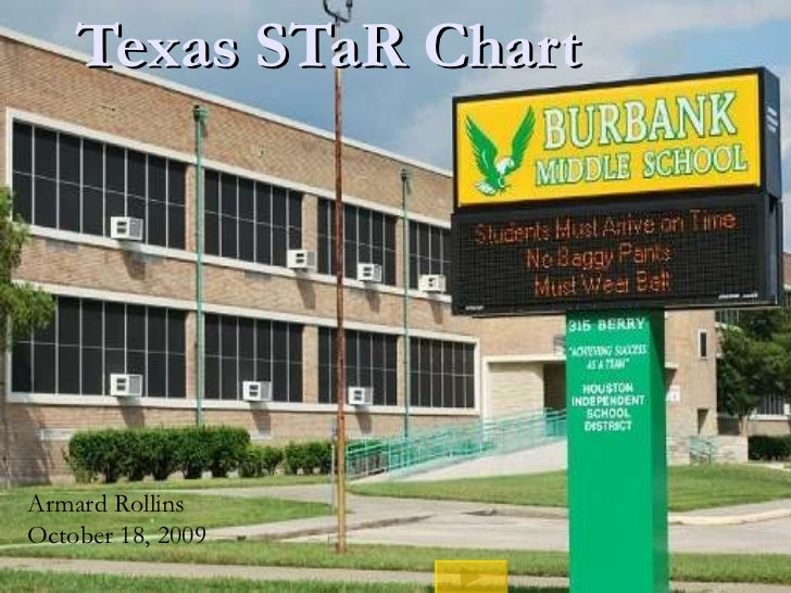 Texas STaR Chart  Armard Rollins October 18, 2009