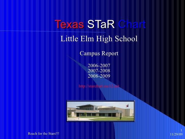 Texas  STaR  Chart Little Elm High School Campus Report 2006-2007 2007-2008 2008-2009 http://starchart.esc12.net