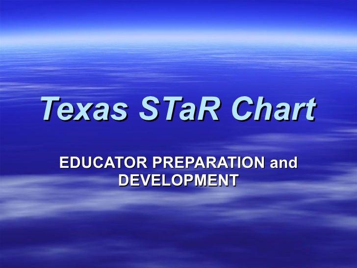 Texas STaR Chart   EDUCATOR PREPARATION and DEVELOPMENT