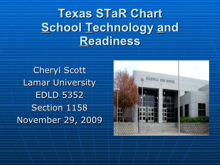 Texas STaR Chart and Much More