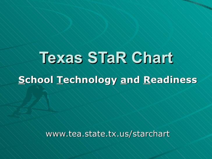 Texas STaR Chart S chool  T echnology  a nd  R eadiness www.tea.state.tx.us/starchart