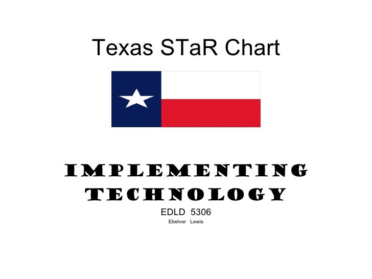 Texas STaR Chart IMPLEMENTING TECHNOLOGY EDLD  5306 Ebelver  Lewis