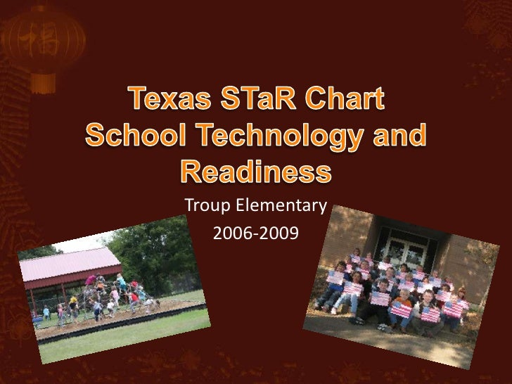 Texas STaR ChartSchool Technology and Readiness<br />Troup Elementary <br />2006-2009<br />
