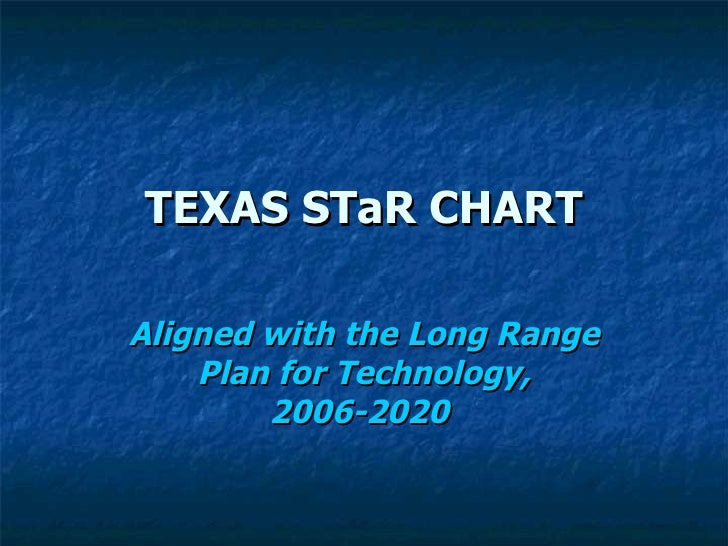 TEXAS STaR CHART Aligned with the Long Range Plan for Technology, 2006-2020