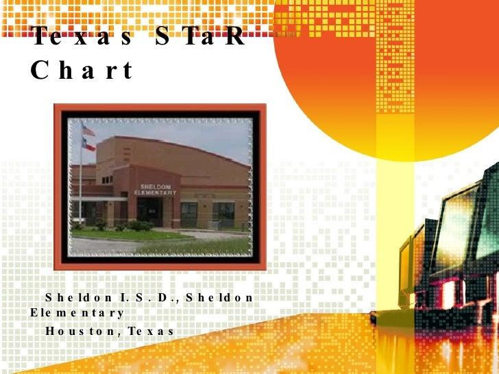 Texas STaR Chart Sheldon I. S. D., Sheldon Elementary Houston, Texas