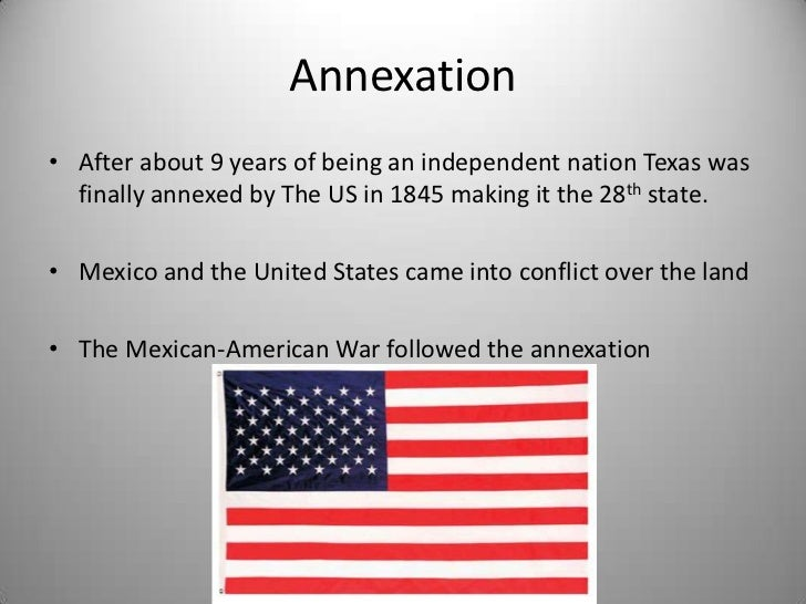 the annexation of texas and the mexican war Military and the media during the course of the mexican war  david m  pletcher, the diplomacy of annexation: texas, oregon, and the.
