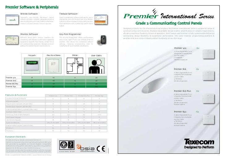 Texecom premier 816-leaflets