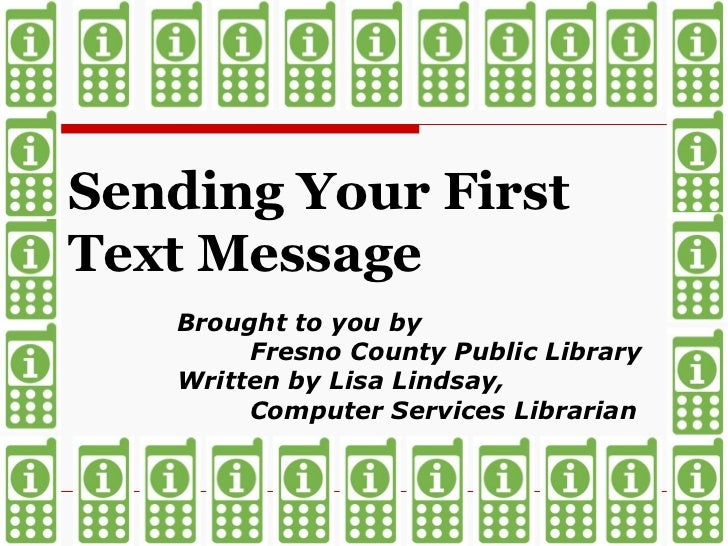 Send Your First Text Message