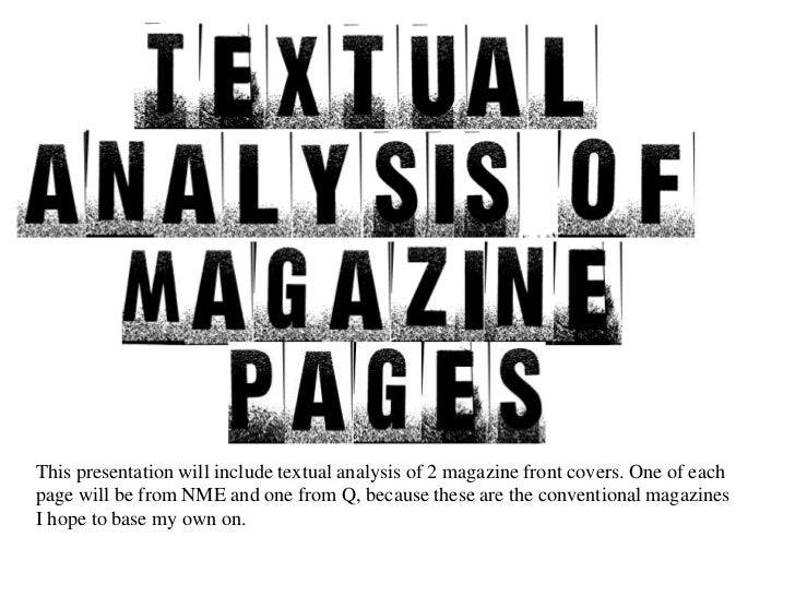 Text analysis front cover
