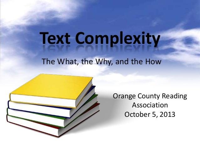 Text complexity ocra 10.5.13