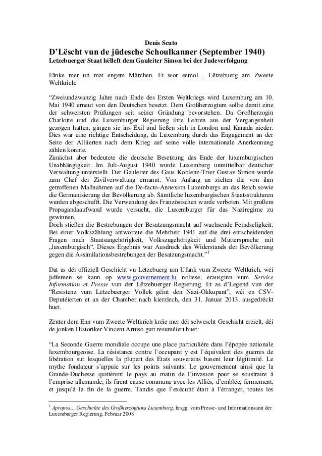 Denis ScutoD'Lëscht vun de jüdesche Schoulkanner (September 1940)Letzebuerger Staat hëlleft dem Gauleiter Simon bei der Ju...