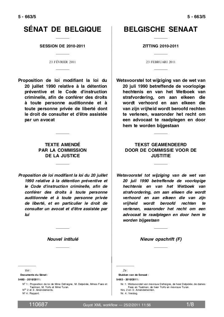 Projet de loi sur la présence de l'avocat dès le premier interrogatoire