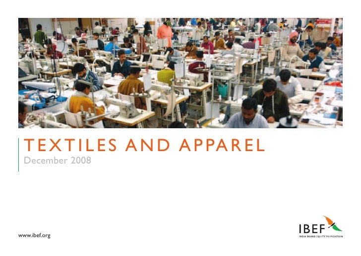 Indian Textile Industry Presentation 010709