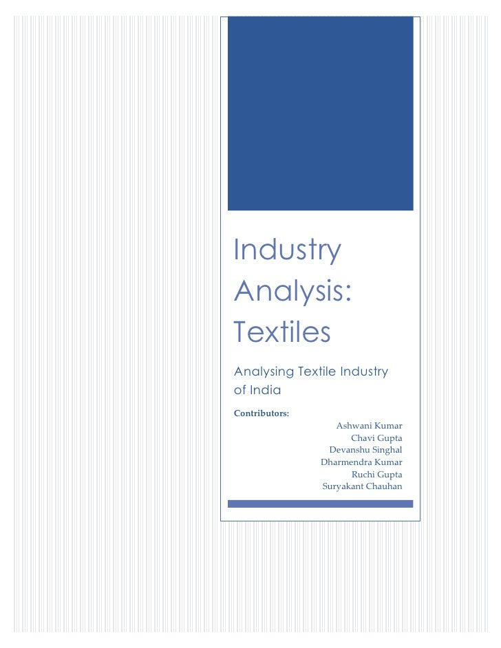 Analyzing Textiles Industry of India