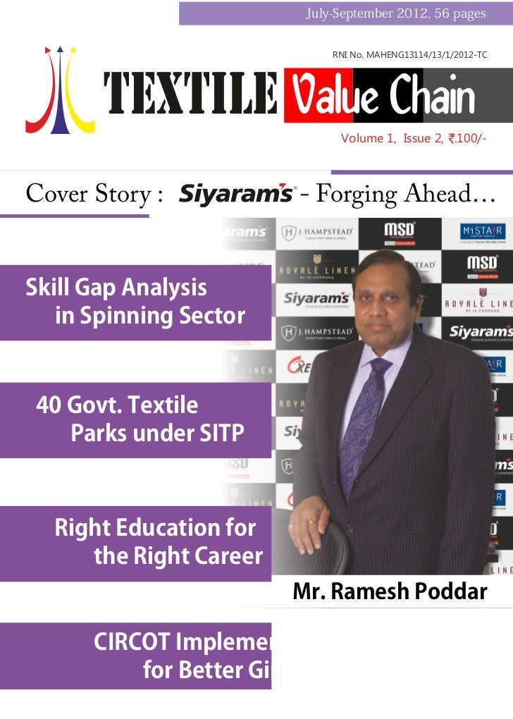 Textile value chain Vol-1, Issue 2