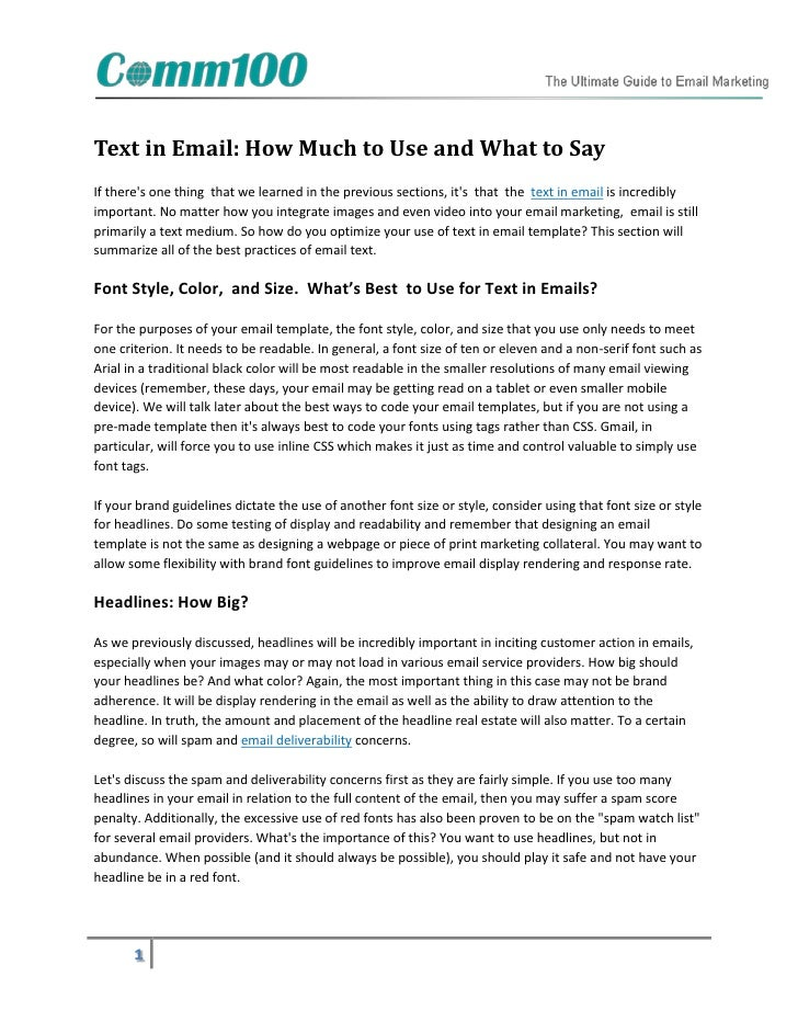 Text in Email: How Much to Use and What to SayIf theres one thing that we learned in the previous sections, its that the t...