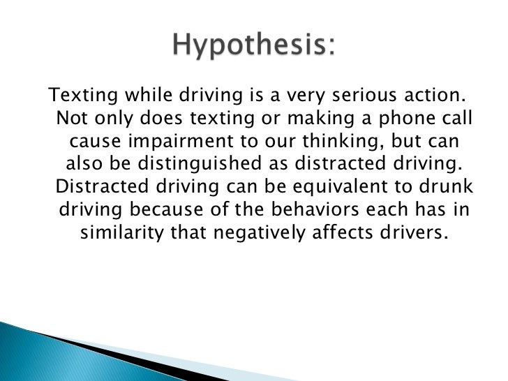 Argumentative essay on texting while driving