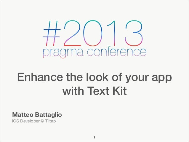 Enhance the Look of Your App With Text Kit