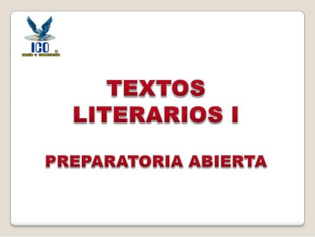 Textos Literarios I 01