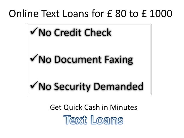 Text Loans, Payday Text Loans, Instant Text Loans @ http://www ...