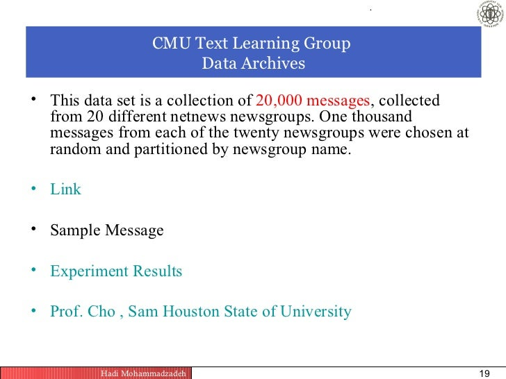 Cmu Text Learning Group Data