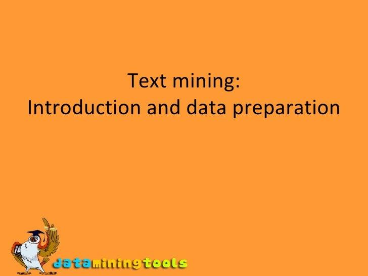Textmining Introduction
