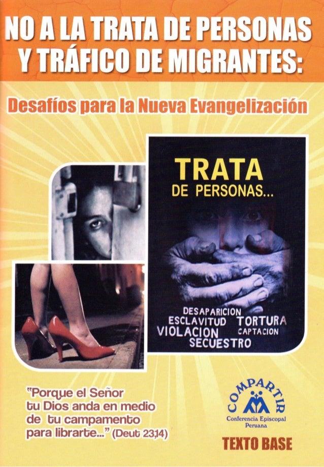 """Campaña de Solidaridad Compartir 2013 TEXTO BASE """"Trata de personas y Tráfico de migrantes: Desafíos para la Nueva Evangel..."""