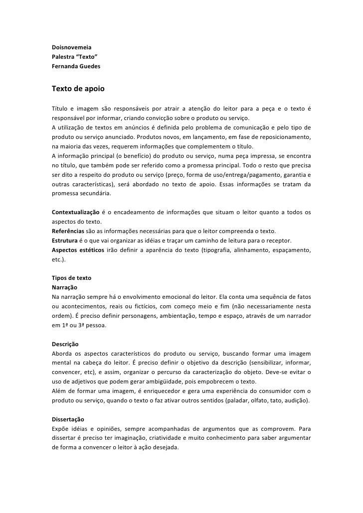 Texto - Fernanda Guedes