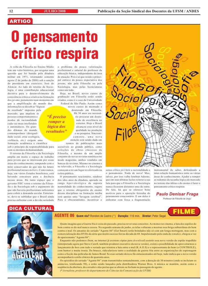 12                             JULHO/2008                                      Publicação da Seção Sindical dos Docentes d...