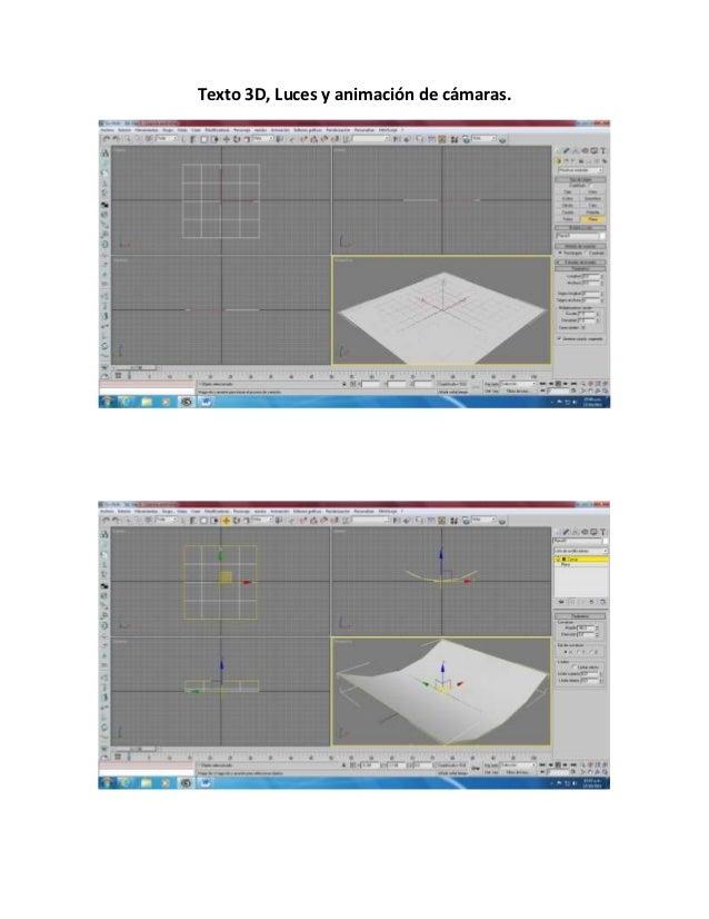 Texto 3D, Luces y animación de cámaras.