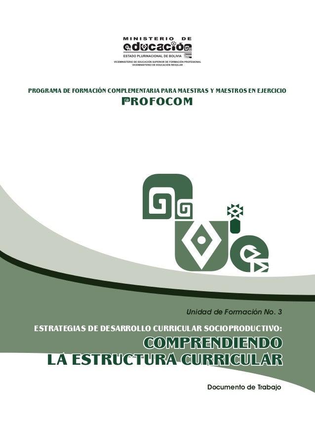 PROGRAMA DE FORMACIÓN COMPLEMENTARIA PARA MAESTRAS Y MAESTROS EN EJERCICIO                             ROFOCOM            ...