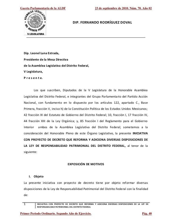 Texto de iniciativa ley de responsabilidad patrimoniala