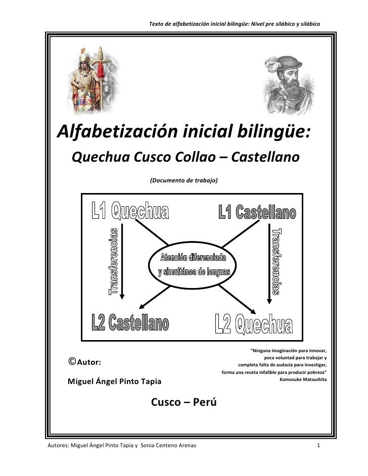 Texto De Lecto Escritura Bilingue Castellano Quechua