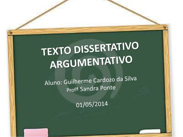 O QUE É? O texto dissertativo argumentativo é um texto em que se defende um ponto de vista através de argumentos e explica...