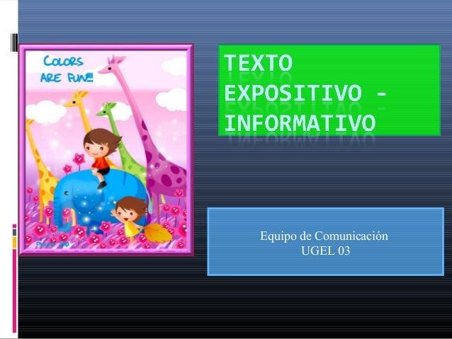 Textoexpositivo informativo