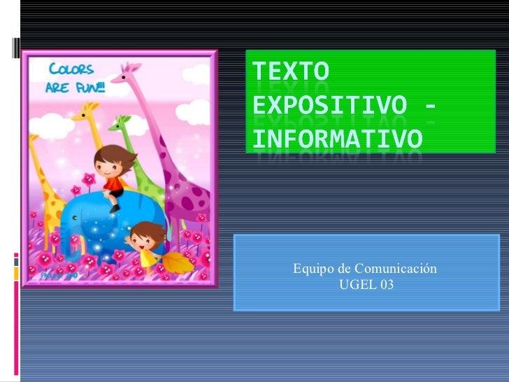 Equipo de Comunicación  UGEL 03