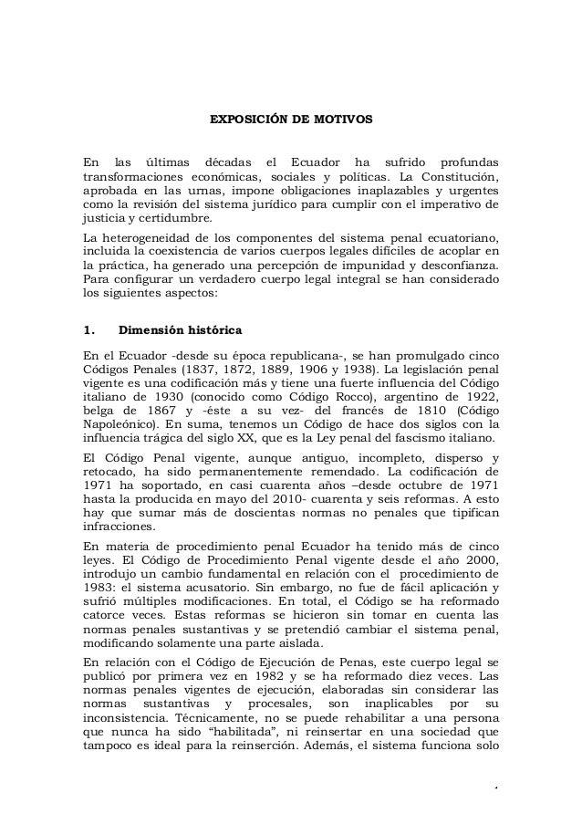 EXPOSICIÓN DE MOTIVOS  En las últimas décadas el Ecuador ha sufrido profundas transformaciones económicas, sociales y polí...