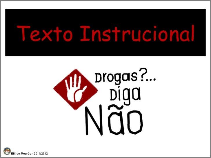 Texto Instrucional EBI de Mourão - 2011/2012