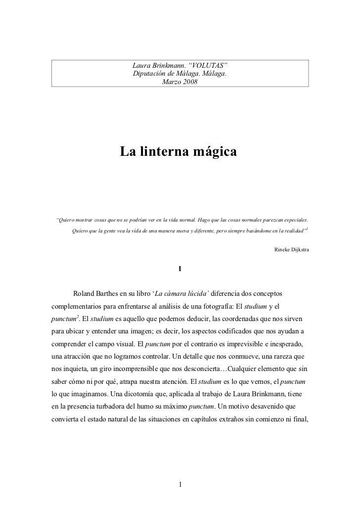 "Laura Brinkmann. ""VOLUTAS""                                  Diputación de Málaga. Málaga.                                 ..."