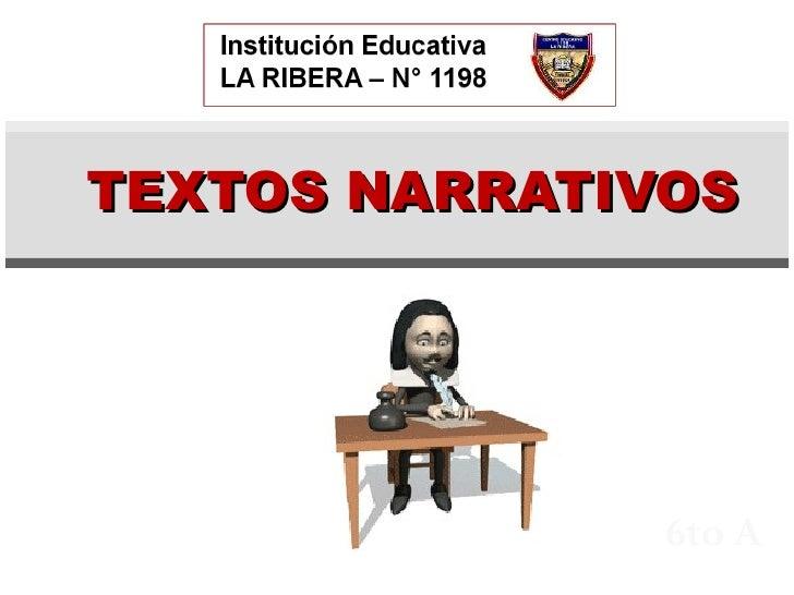 6to A TEXTOS NARRATIVOS