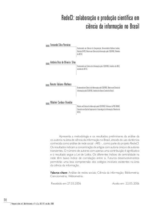 RedeCI: colaboração e produção científica em                                                                              ...