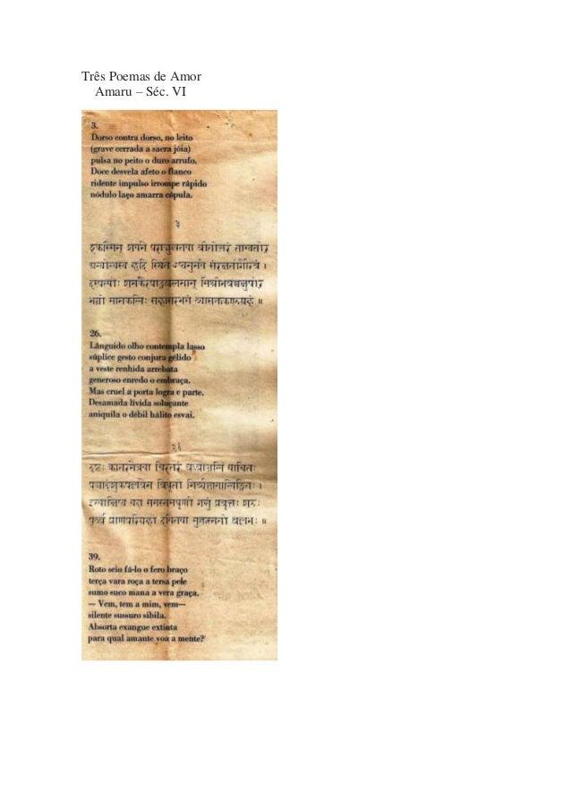 Três Poemas de Amor Amaru – Séc. VI