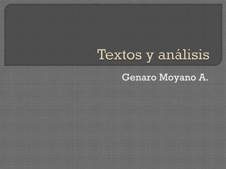 Genaro Moyano A.