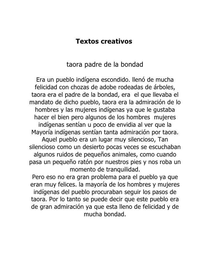 Textos creativos