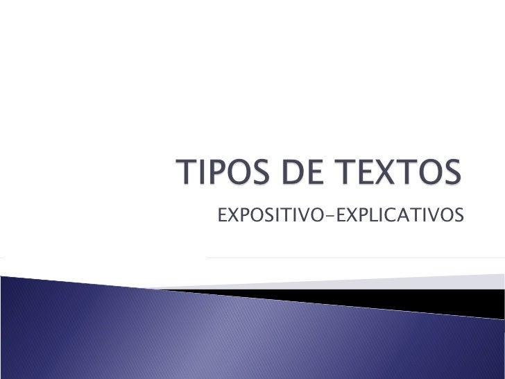 EXPOSITIVO-EXPLICATIVOS