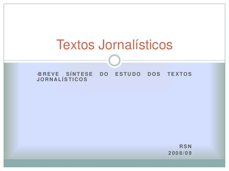 Textos Jornalisticos