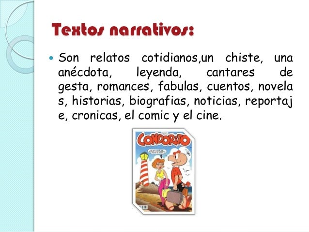 Textos Narrativo Y Descriptivo