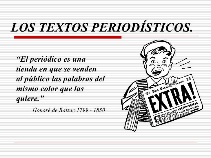 Textos periodísticos.